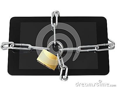 Locked tablet
