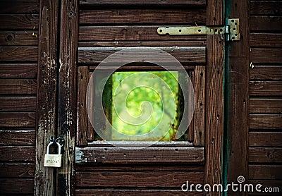 Locked view of nature