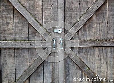 Locked wooden doors