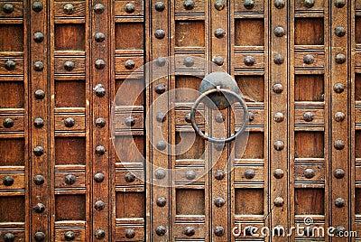Locked wooden gate