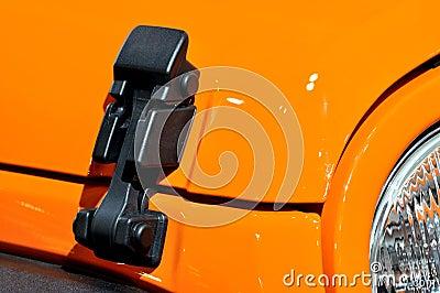 Locker of sport roadster engine hood