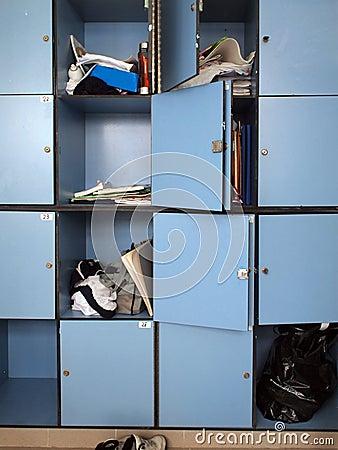 Free Lockers Royalty Free Stock Image - 12992986