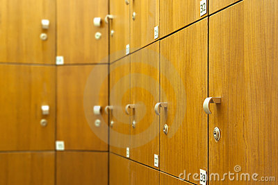 Lockers in Changing Room