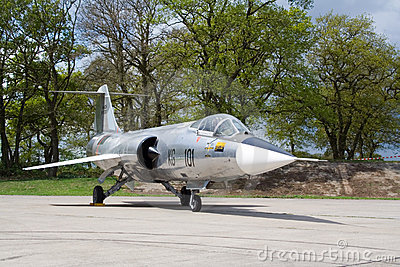 Lockheed F-104 Starfighter jetfighter Editorial Photo