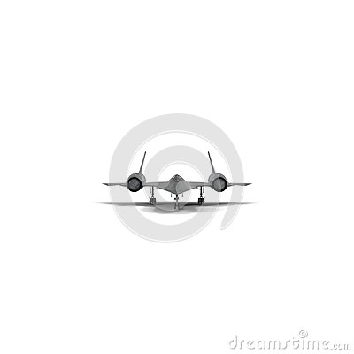 Free Lockheed SR 71 Blackbird On White. 3D Illustration Royalty Free Stock Photography - 114212787