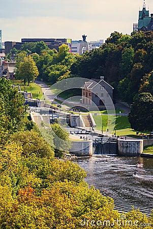 Free Locks At The Ottawa River Stock Photography - 12798612