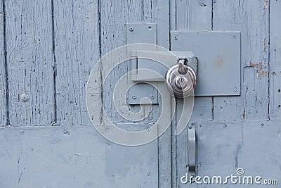 Locks on a barn