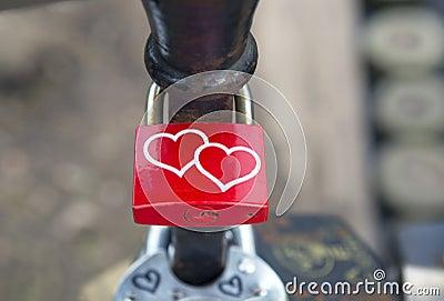 Locks on bridge of lovers