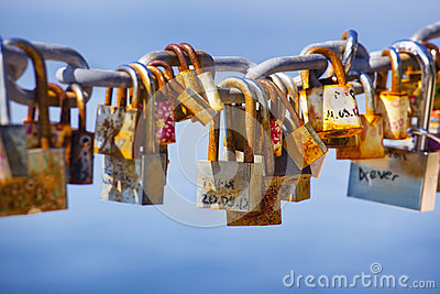 Locks left by lovers