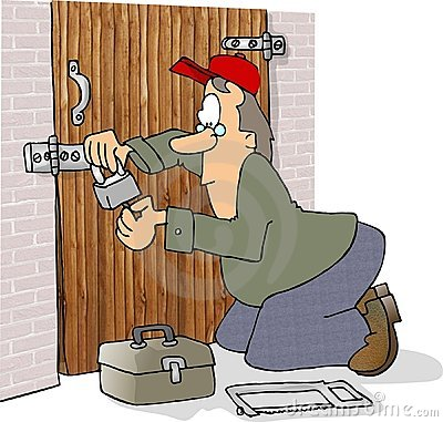 Locksmith Cartoon Illustration