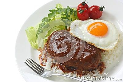 Loco moco , hawaiian cuisine