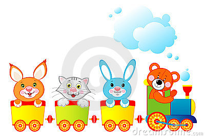 Locomotive with animals