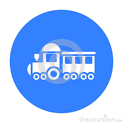 Free Locomotive Black Icon. Illustration For Web And Mobile Design. Stock Photo - 84696370