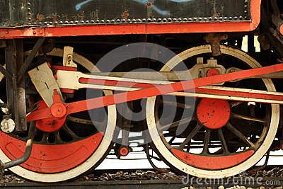 Locomotive iron wheels