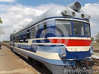 Locomotive on railway station
