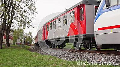locomotora ferroviaria del Estrecho-indicador almacen de video