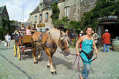 Locronan in brittany in summer 2011 Editorial Photo