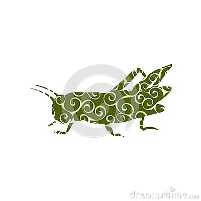 Free Locust Grasshopper Insect Spiral Pattern Color Silhouette Animal Royalty Free Stock Images - 114208649