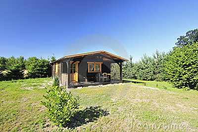 Lodge in countryside