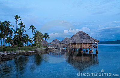 Lodges on the water, San Blas Islands