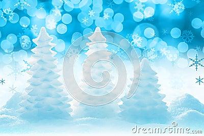 Lodowaty Bożego Narodzenia drzewo