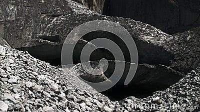 Lodowe jamy na Franz Josef lodowu zbiory