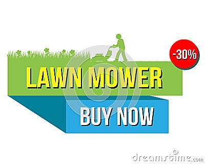 Loer mower sale Vector Illustration