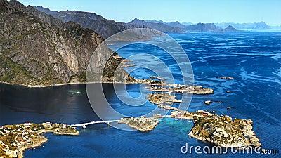 Lofoten Islands, Reine Fjord Coastline Landscape