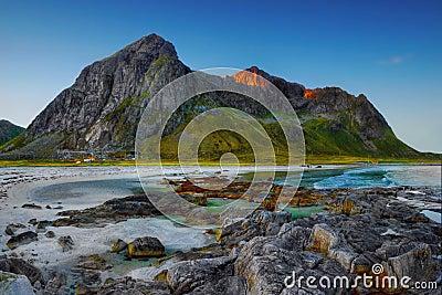 Lofoten, Norwegian Coastline Landscape
