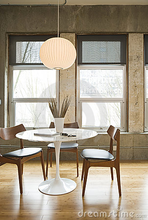 Free Loft Dining Room Royalty Free Stock Image - 14471916