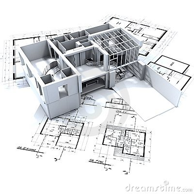 Free Loft Mock-up And Blueprints Royalty Free Stock Photo - 2899985