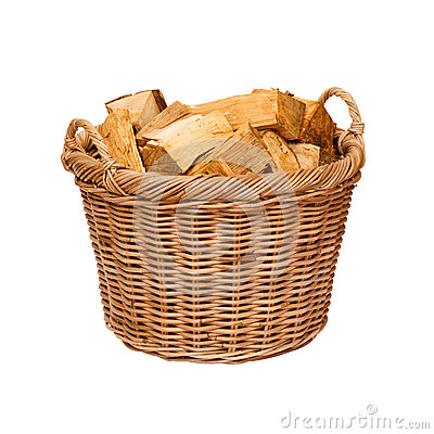 Free Log Basket Royalty Free Stock Photography - 26082567