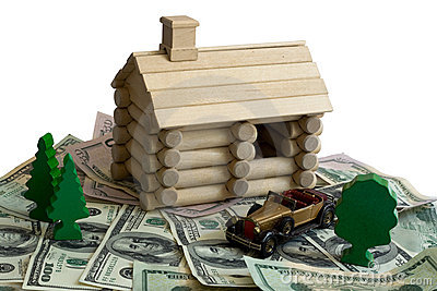 Log building model and money