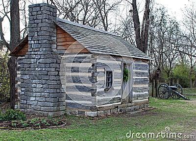 Log Cabin & Cannon