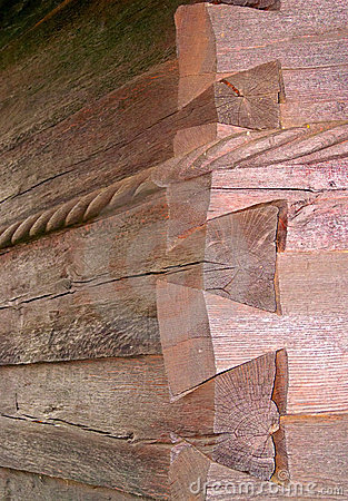 Free Log Cabin Corner Wall Royalty Free Stock Images - 12055549