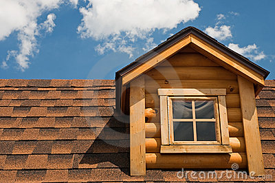 Log cabin gable and roof