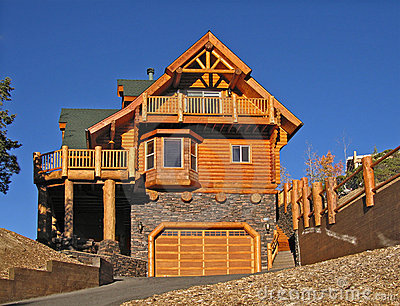 Log Cabin Home Exterior with Warm Fireplace ~ Perfect Vacation