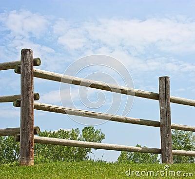Log fence