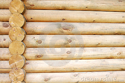 Log home wall detail stock photo image 19454740 for Time saver details for exterior wall design