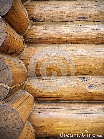 Log home wall