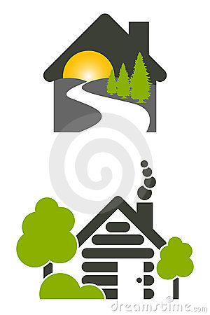 Free Log House Icons Stock Photography - 15816852