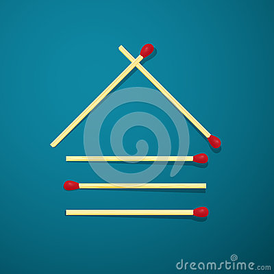 Free Log House Made From Matches Royalty Free Stock Photography - 52985417