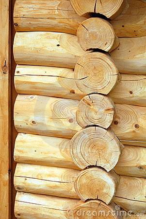 Free Log House Wall Royalty Free Stock Photos - 21431038