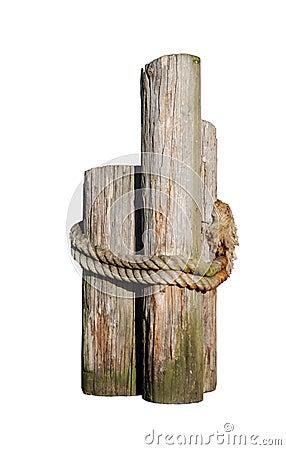Log pilings