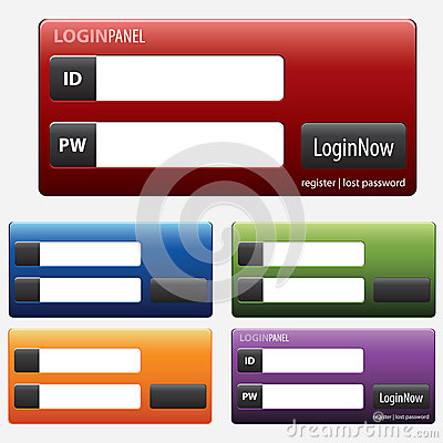 Log in section