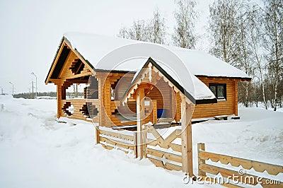 Log in suburban home, real estate