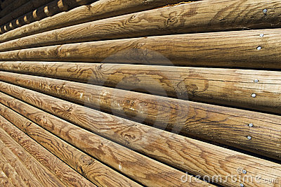 Log wall detail