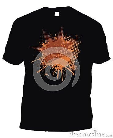 Logarithme naturel noir de petit morceau de T-shirt