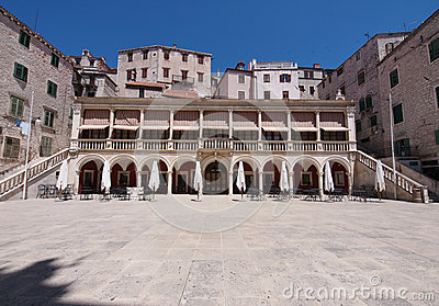 The loggia and palace in Sibenik