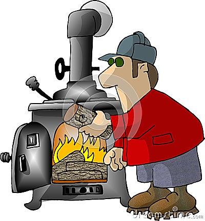 Logging on Cartoon Illustration